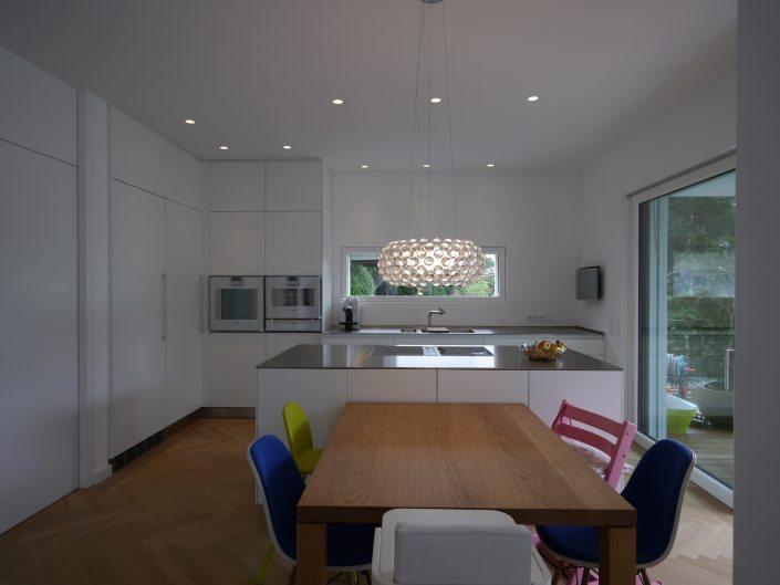 Bulthaup b3 Schreinerküchen Laminat weiß, Tisch Eiche