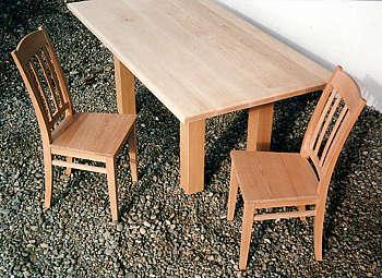 Stühle, Buche / Tisch, kanadischer Ahorn