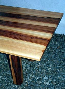 Tisch, Elsbeere mit Kern